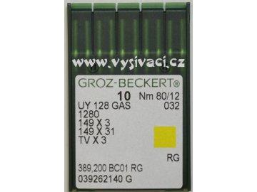 jehla UY128  80 RG Groz-Beckert, balení 10ks nebo 100ks
