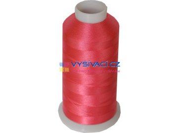 Vyšívací nit polyesterová P3086 růžová