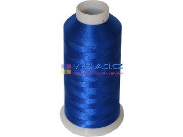 Vyšívací nit polyesterová P3140 modrá