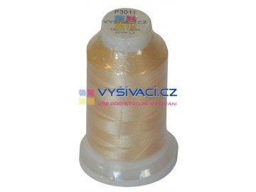 polyesterová vyšívací nit P3011 béžová 1000m