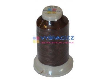 vyšívací nit polyester barva hnědá P3019 návin 1000m  33,30 Kč s DPH za kón při nákupu balení 10 kusů