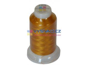 vyšívací nit polyester barva zlatá P3026 návin 1000m  33,30 Kč s DPH za kón při nákupu balení 10 kusů