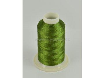 vyšívací nit zelená ROYAL C489 návin 1000m viskóza