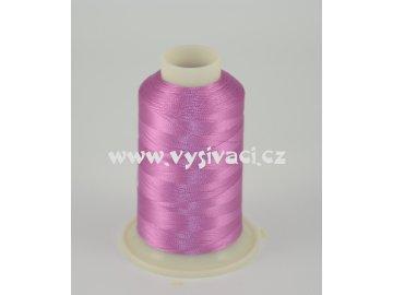 vyšívací nit růžová ROYAL C086 návin 1000m viskóza