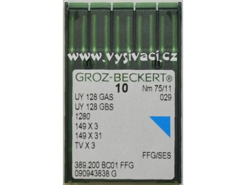 jehla UY128  75 SES Groz-Beckert, balení 10ks nebo 100ks