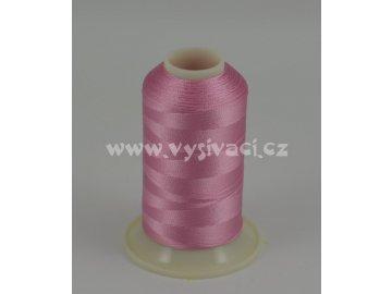 vyšívací nit růžová ROYAL C048 návin 1000m viskóza