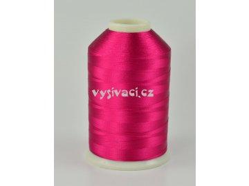 vyšívací nitě růžová fuchsia ROYAL C450 návin 5000 metrů viskóza