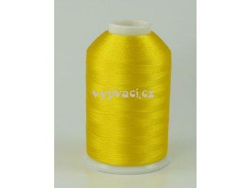 vyšívací nitě žlutá ROYAL C010 návin 5000m viskóza