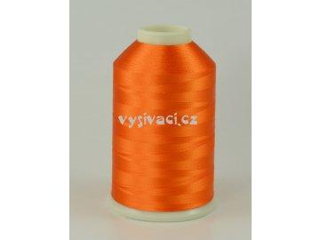 vyšívací nitě oranžová ROYAL C027 návin 5000 metrů viskóza