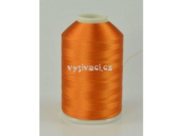 vyšívací nitě oranžová ROYAL C216 návin 5000 metrů viskózové