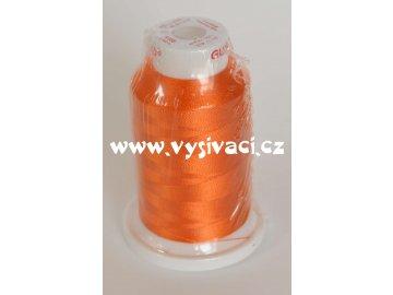 vyšívací nit oranžová ROYAL C027 návin 1000m viskóza  nahrazena nití Sulky 1168