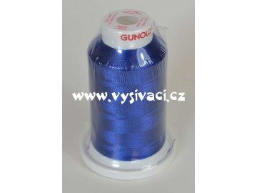 vyšívací nit modrá ROYAL C137 návin 1000m viskóza  nahrazena nití Sulky 1042