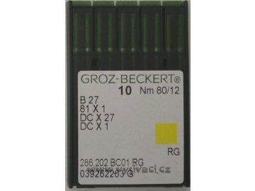 jehla B27  80 RG Groz-Beckert, balení 10ks