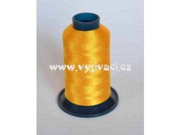 vyšívací nit žlutá tmavší ROYAL P009 1000m polyester