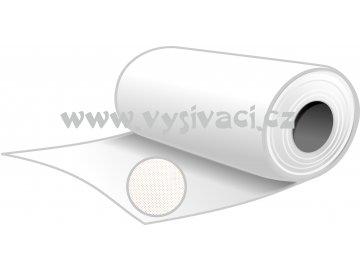 NOVOFIXIN N70b - pevný stříhací podkladový materiál pro vyšívání, gramáž 70g/m2, barva bílá, šíře 80cm, návin 10 nebo 100 metrů