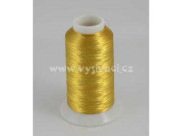 vyšívací nit metalická zlatá ROYAL PG001, návin 2500m