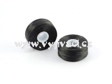 předvinuté spodní cívky SPOLYPRE 100% polyester, síla 75D/2, barva černá, balení 144ks