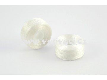 předvinuté spodní cívky SPOLYPRE 100% polyester, síla 75D/2, barva bílá, balení 10ks nebo 144ks