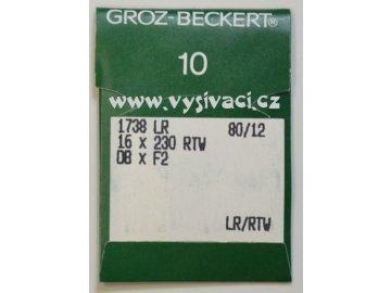 jehla pro vyšívání na kůži 1738 LR 80 LR/RTW, balení 10ks