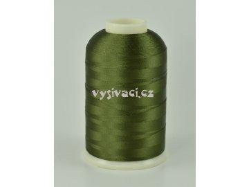 vyšívací nitě zelená ROYAL C411 návin 5000m viskóza