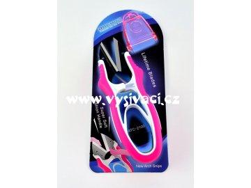 nůžky odstřihovací ergonomické cvakačky s ostrou špičkou, délka 12cm
