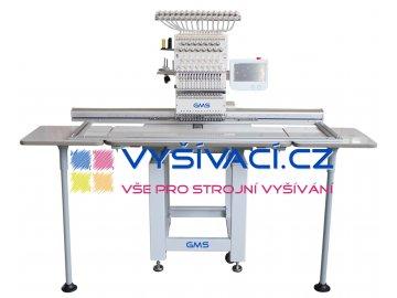 vyšívací stroj GMS-FT1501XXL41 průmyslový 15-ti jehlový s extra velkou pracovní plochou 41x120cm  + ZDARMA: balíček spotřebních materiálů a nití!