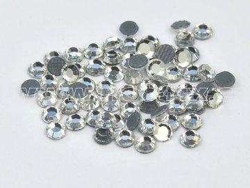 hot-fix skleněné nažehlovací kameny na textil barva 101 Crystal stříbrná, velikost SS6 až SS40, balení 144ks