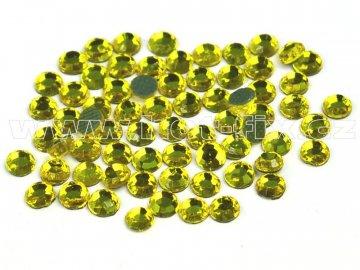 hot-fix skleněné nažehlovací kameny na textil barva 112 Citrine, velikost SS6 až SS16