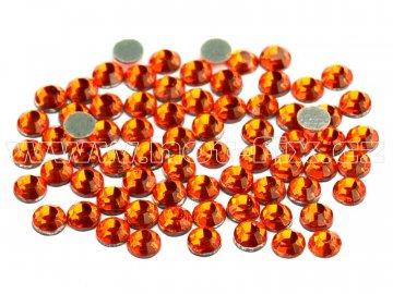 hot-fix skleněné nažehlovací kameny na textil barva 104 Orange, velikost SS6 až SS20, balení 144ks