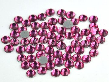 hot-fix skleněné nažehlovací kameny na textil barva 106 Rose, velikost SS6, SS10