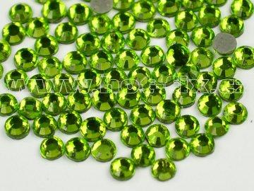 hot-fix skleněné nažehlovací kameny na textil barva 113 Peridot, velikost SS6 až SS16