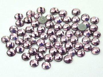 hot-fix skleněné nažehlovací kameny na textil barva 123 Amethyst světlý, velikost SS6 až SS16