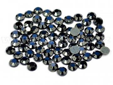 hot-fix skleněné nažehlovací kameny na textil barva 125 Jet hematite, velikost SS6 až SS30