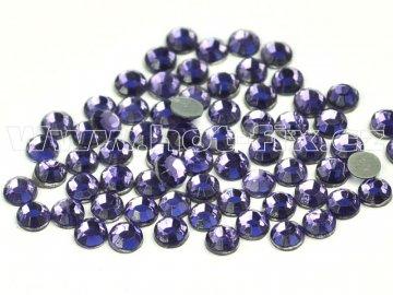 hot-fix skleněné nažehlovací kameny na textil barva 139 Tanzanite, veikost SS6 až SS20