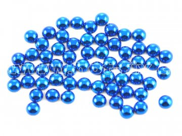 nažehlovací hot-fix perly na textil barva SA309 modrá, velikost 2, 3, 4 a 5mm, balení 100ks