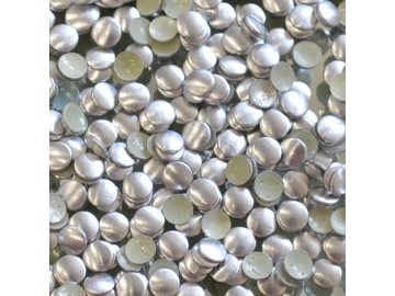 hot-fix kovové kameny na textil nažehlovací barva 04 stříbrná mat, vel. 2, 3, 4, 5mm, balení 100ks a sada 4x100ks