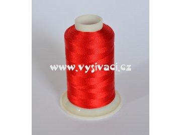 vyšívací nit červená ROYAL C038 návin 1000m viskóza