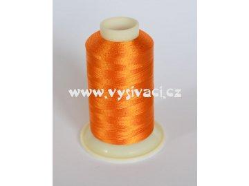vyšívací nit oranžová ROYAL C720 návin 1000m viskóza