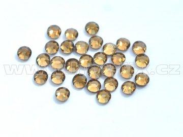 celobroušené hot-fix kameny Premium barva CBP 107 Colorado Topaz, velikost SS6 až SS30, balení 144ks