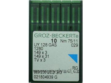 jehla UY128  75 RG Groz-Beckert, balení 10ks nebo 100ks