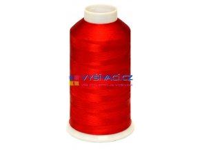 Vyšívací nit viskózová červená C040