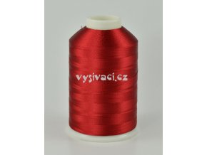 vyšívací nitě červená ROYAL C547 návin 5000 metrů viskóza