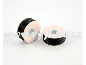 předvinuté spodní cívky pro vyšívací stroje SPOLYPRE-DVS 100% polyester, síla 75D/2, barva černá, balení 10 nebo 144ks