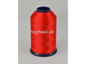 vyšívací nit červená ROYAL P7037 5000m polyester