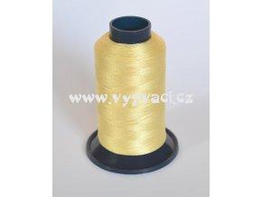vyšívací nit žlutá světlounce ROYAL P010 5000m polyester