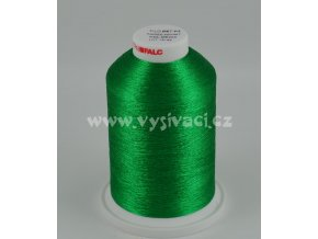 vyšívací nitě FILOMET ME205 metalická zelená, návin 5000m