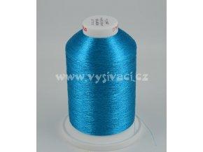 vyšívací nitě FILOMET ME206 metalická modrá, návin 5000m