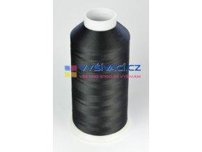 Vyšívací nit polyesterová černá