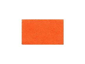 FILC pro vyšívání nášivek a aplikací, tloušťka cca1mm, barva č. 155 oranžová DOPRODEJ ZBYTKU cca 96x112cm