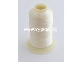 vyšívací nit bílá slonová kost ROYAL C376 návin 1000m viskóza